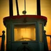 Old Dixie Boat Cab Sunrise Art Print