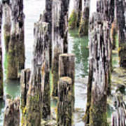 Old Dock Remains Art Print