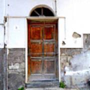 Old Door In Sorrento Art Print