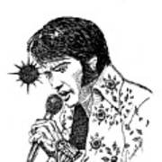 Old Elvis Art Print