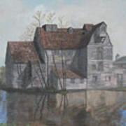 Old English Mill Art Print