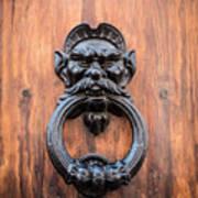 Old Face Door Knocker Art Print