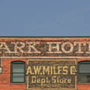 Old Faded Advertisement On An Old Brick Building Art Print