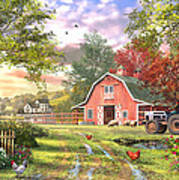 Old Farm House Variant 1 Art Print
