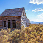 Old Farm House Widtsoe Utah Ghost Town Art Print