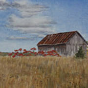 Old Farmer's Barn Art Print
