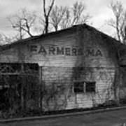 Old Farmer's Market Shed Art Print