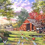 Old Farmhouse Art Print