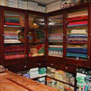Old-fashioned Fabric Shop Art Print