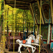 Old-fashioned Merry-go-round Art Print