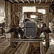 Old Fashioned Tlc Monochrome Art Print