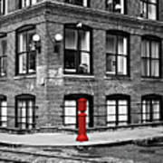 Old Fire Hydrant In Dumbo Brooklyn Art Print