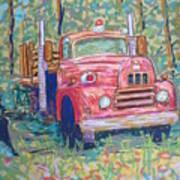 Old Fire Truck Art Print