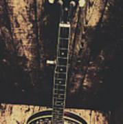 Old Folk Music Banjo Art Print