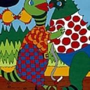 Old Folks Dancing Art Print by Rojax Art