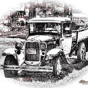 Old Ford Homemade Pickup Art Print