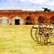 Old Fort And Cannon Still Liife Art Print