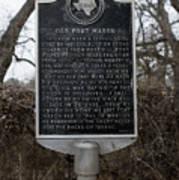 Old Fort Mason Historical Marker Art Print