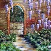 Old Garden Gateway Art Print