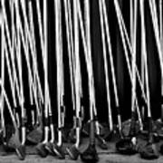 Old Golf Clubs Art Print