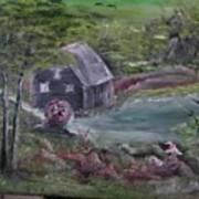 Old Grist Mill Art Print