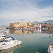 Old Harbour Of  Kyrenia, In Cyprus Art Print