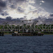 Old Highway 41 Swing Bridge Over The Wando River In Charleston Sc Art Print