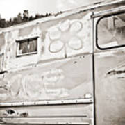 Old Hippie Peace Van Art Print