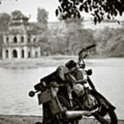 Old Honda In Hanoi Art Print