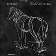 Old Horse Harness Patent  Art Print
