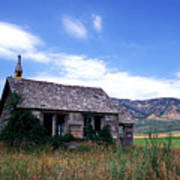 Old House In Idaho Art Print by Kathy Yates