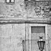 Old House In Taormina Sicily Print by Silvia Ganora