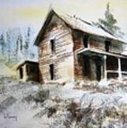 Old House Marysville Ghosttown Montana Art Print