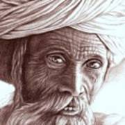 Old Indian Man Art Print