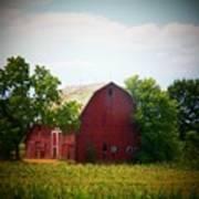 Old Indiana Barn Print by Joyce Kimble Smith