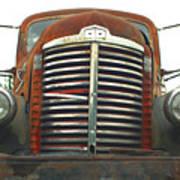 Old International Gravel Truck Print by Randy Harris
