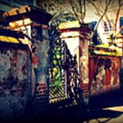 Old Iron Gate In Charleston Sc Art Print