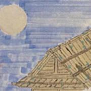 Old Japan At Nightfall Art Print