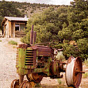 Old John Deer Tractor Art Print