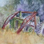Old John Deere Tractor In The Back 40 Art Print