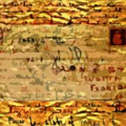 Old Letter Art Print