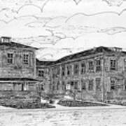 Old Lilly Lab At Mbl Art Print