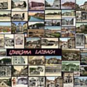 Old Ljubljana Collage Art Print