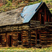 Old Log Cabin-barn Art Print