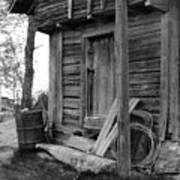 Old Log House Art Print