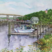 Old Lyme Boat Yard At The Dep Art Print