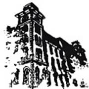Old Main Building In Fayetteville Ar Art Print by Amanda  Sanford
