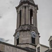 Old Main Penn State Clock  Art Print