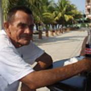 Old Man Drinking Coca Cola Art Print