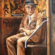 Old Man In Subway Art Print